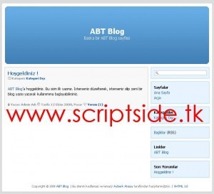 ABT Blog v2.0 Blog Scripti Demo