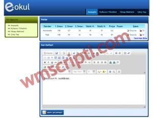 e-okul v1.0 Not Takip Scripti Demo