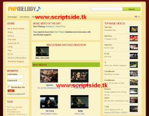 PHP Melody 1.6.3 Video Scripti Demo