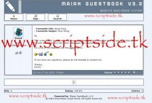 Maian Guestbook v3.2 Ziyaretçi Defteri Scripti Demo