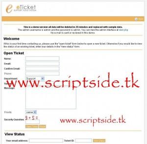 eTicket 1.7.3 Online Destek Scripti Görseli