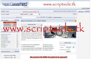 Rapid Classified İlan Scripti Demo