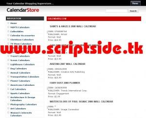 CalendarStore Alışveriş Scripti Demo
