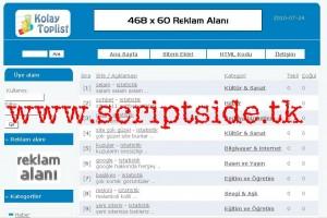 Kolay Toplist Scripti – Toplist Scripti Demo