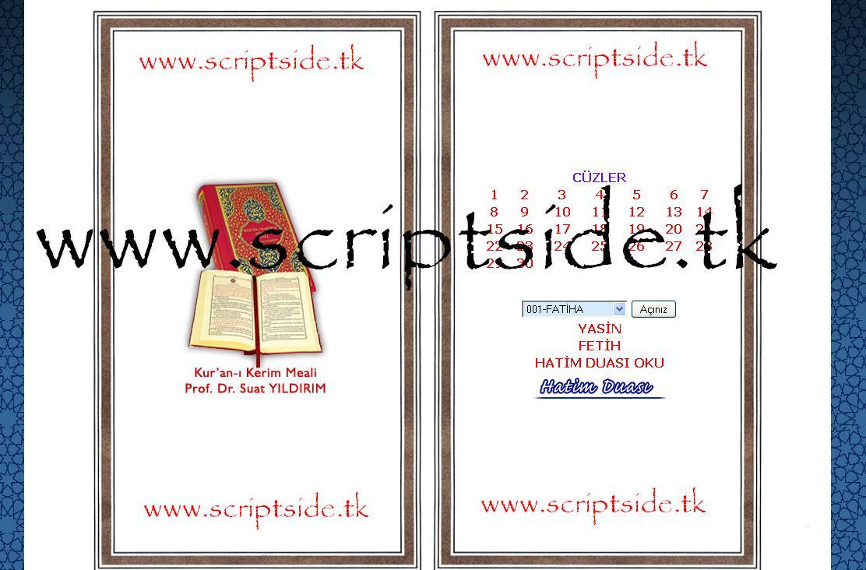 Kuran-ı Kerim Scripti Demo