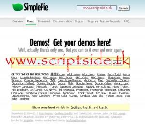 SimplePie v1.2 RSS Okuyucu Script Demo