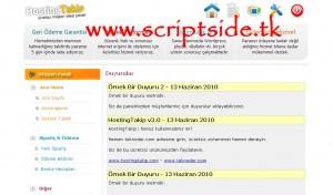 HostingTakip v3.0 Hosting Yönetim Scripti Demo
