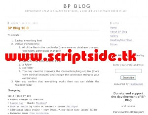 BP Blog v10.0 Blog Scripti Demo