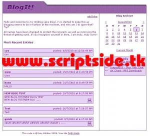 BlogIt Blog Scripti Demo