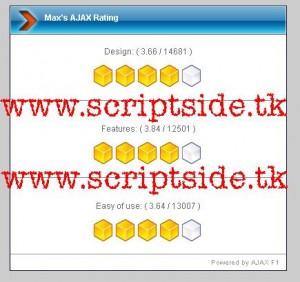 Max's AJAX Rating Oylama Scripti Demo