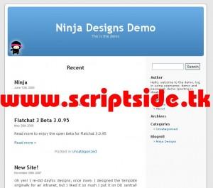 Ninja Blog v4.8 Blog Scripti Görseli