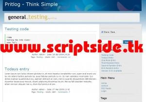 Pritlog v0.81 Blog Scripti Demo