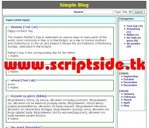 Simple Blog Scripti Demo