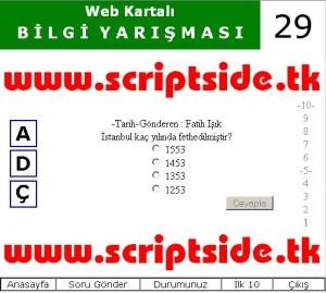 Web Kartalı Bilgi Yarışması Scripti Demo