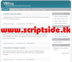 YBBlog v1 Blog Scripti Demo