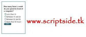 Ajaxlı Anket Scripti – Ajax Poller Script Görseli