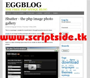 eggBlog v4.1.2 Blog Scripti Demo