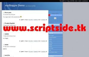 myBloggie v2.1.6 Blog Scripti Demo