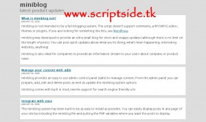 SWG MiniBlog v1.0 Blog Scripti Görseli