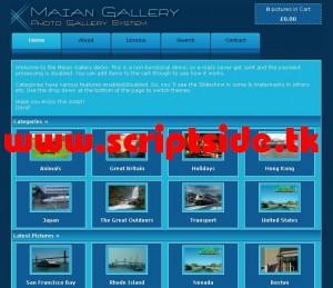 Maian Gallery Resim Galerisi Scripti Demo