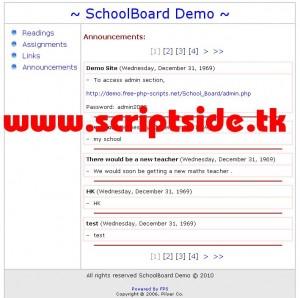 SchoolBoard Okul Portalı Scripti Demo