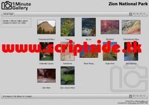 1 Minute Gallery v1.0 Resim Galerisi Scripti Demo