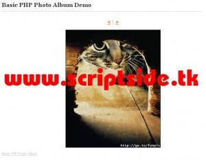 Basic PHP Photo Album Resim Galerisi Scripti Demo