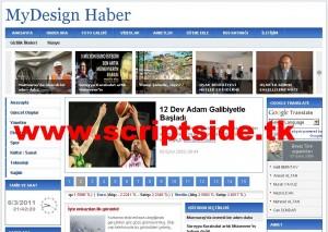 MyDesign v7 Haber Scripti Demo