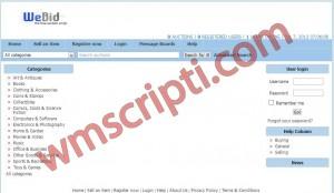 WeBid v1.1.0 Açık Arttırma ve Satış Scripti Demo