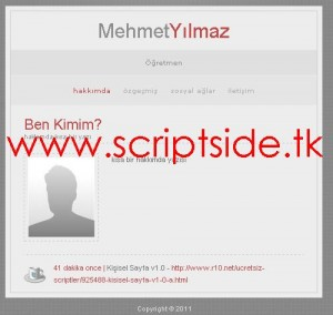 Kişisel Sayfa v1.0 Scripti Demo
