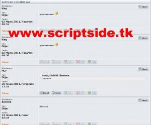 MyDesign v1.7 Ziyaretçi Defteri Scripti Demo