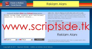 Cümle ve Kelime Çeviri Scripti Demo
