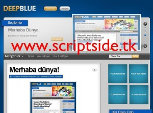 DeepBlue WordPress Teması Görseli