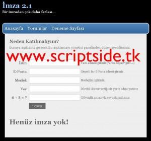 İmza v2.1 İmza Toplama Scripti Demo