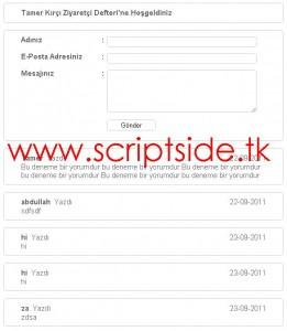 Tamer Kırcı Ziyaretçi Defteri Scripti Demo