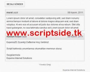 Expenia Ziyaretçi Defteri Scripti Demo