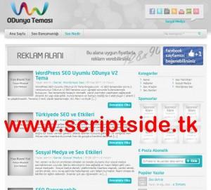 ODunya v2.0 WordPress Blog Teması Görseli