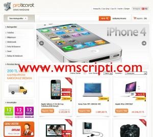 Proticaret v1.08 E-Ticaret Scripti Demo