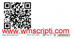 QR Encode v1.1.4 Kod Oluşturma Scripti Demo