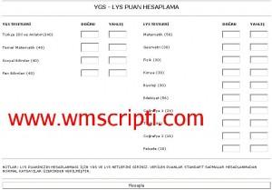 YGS ve LYS Puan Hesaplama Scripti Demo