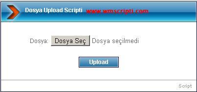 Basit Dosya Upload Scripti Görseli