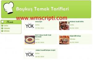 PHP Yemek Tarifi Scripti Demo