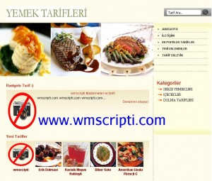 Yemek Tarifi Scripti Demo