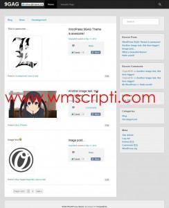 9GAG v0.1.1 WordPress Teması Demo