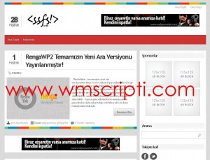 RengaWP v2.1 WordPress Blog Teması Görseli