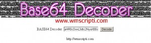 Base64 Decoder Scripti Demo
