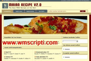 Maian Recipe v2.0 Yemek Tarifi Scripti Demo