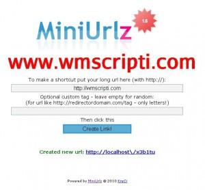 Miniurlz v1.5 Link Kısaltma Scripti Görseli