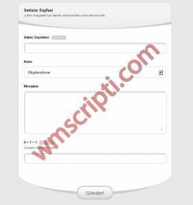 AjaxCon v1.0 İletişim Formu Görseli