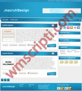 mDesign v1.1 WordPress Blog Teması Görseli